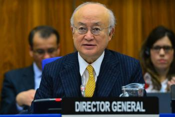 O diretor-geral da Agência Internacional de Energia Atômica, Yukiya Amano, acaba de voltar da capital iraniana, Teerã. Foto: Aiea/Dean Calma