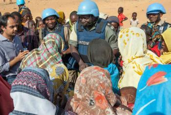 Operação de paz anunciou que cerca de 8,4 mil civis estão refugiados nas imediações das instalações da missão em Sortoni, Darfur Norte.Foto: Unamid/Hamid Abdulsalam
