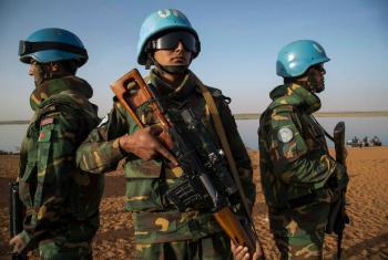 Soldados de paz da Minusma em patrulha em Ansongo, região de Gao, no leste do Mali. Foto:Minusma/Marco Dormino