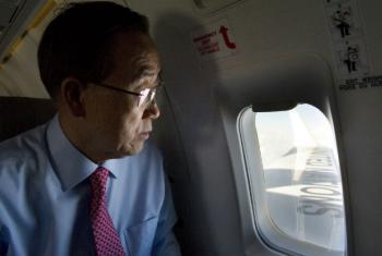 Ban Ki-moon segue esta quinta-feira de Nova Iorque para a capital etíope Adis Abeba.Foto: ONU/Eskinder Debebe