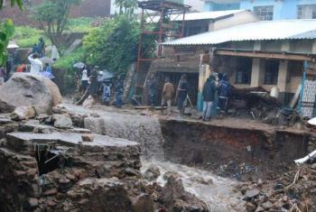 Inundacões deslocaram cerca de 230 mil pessoas no Malaui em 2015. Foto: Pnud/Malaui.