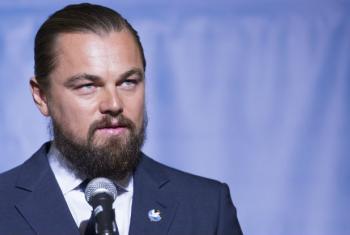 Mensageiro da Paz, Leonardo DiCaprio. Foto: ONU/Mark Garten