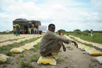 Uma seca severa e falta d'água estão afetando vários países em África.Foto: ONU/Tobin Jones