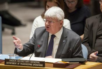 Subsecretário-geral da ONU para as Operações de Paz, Hervé Ladsous. Foto: ONU/Loey Felipe