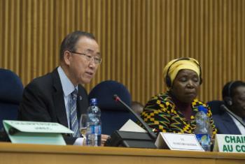 Ban Ki-moon em Adis Abeba. Foto: ONU/Eskinder Debebe