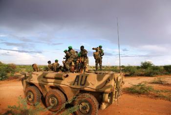 Tropas da União Africana em Gedo, Somália. Foto: AU UN IST/Mahamud Hassan