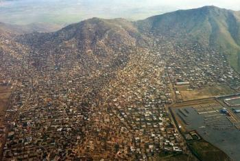 Vista aérea de Cabul, Afeganistão. Foto: Unama/Ari Gaitanis