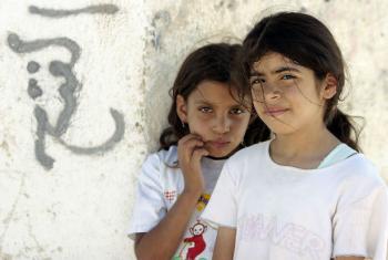 Crianças palestinas em acampamento de refugiados em Jericho. Foto: ONU/Stephenie Hollyman