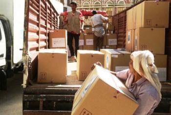 Assistência humanitária para mais de 200 mil pessoas.Foto: OMS Iémen