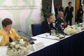 Ban participou do lançamento do relatório em Dubai. Foto: Basma Baghall/Rádio ONU
