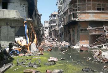 Prédios destruídos em Homs, na Síria. Foto: Unicef/Nasar Ali