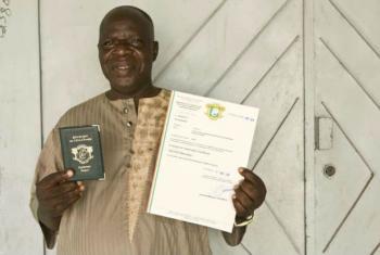 Mamadou Salogo deixou se ser apátrida e tornou-se cidadão da Côte d'Ivoire.Foto: Acnur/H. Caux