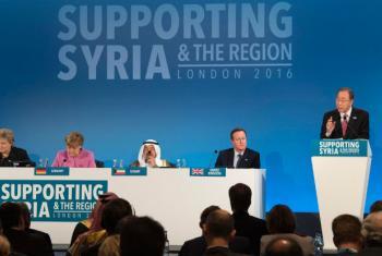 Secretário-geral da ONU, Ban Ki-moon, afirmou que a comunidade internacional prometeu doar US$ 10 bilhões para ajudar a Síria. Foto: ONU/Eskinder Debebe.