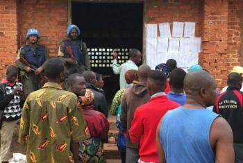Tropas de Paz da ONU fizeram a segurança nas zonas eleitorais na República Centro-Africana. Foto: Minusca.
