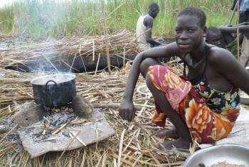 Sul-sudaneses procuram procuraram proteção e auxílio de emergência em bases da ONU.Foto: FAO Sudão do Sul