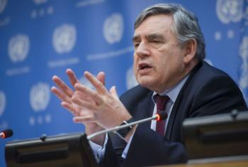 Gordon Brown. Foto: ONU/Amanda Voisard