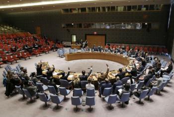 Votação no Conselho de Segurança sobre a extensão do mandato da Missão da ONU na Guiné-Bissau. Foto: ONU/Evan Schneider