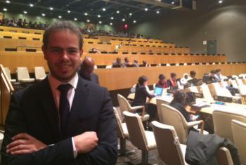 Hugo Carvalho no Conselho Económico e Social das Nações Unidas. Foto: Rádio ONU