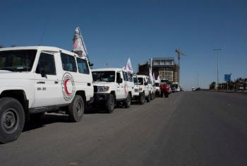 Comboio humanitário da Força Tarefa para a Síria. Foto: PMA