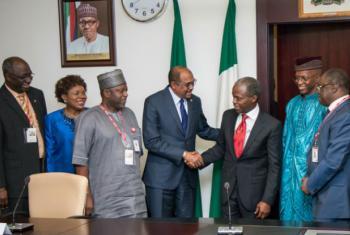 Michel Sidibé em visita à Nigéria. Foto: Unaids