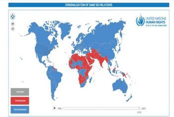 Imagem do mapa interativo da campanha Free & Equal.