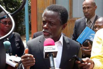 Parfait Onanga-Anyanga, chefe da Minusca. Rádio ONU: Minusca