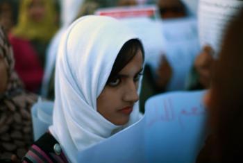 Jovem em Trípoli, na Líbia. Foto: ONU/Iason Foounten (arquivo)
