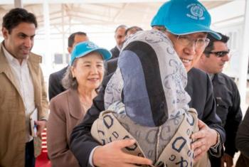 Chefe da ONU encontrou-se com refugiados sírios do acampamento de Zaatari. Foto: ONU Mulheres/Jordânia.