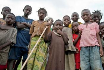 Crianças centro-africanas em Kaga-Bandoro. Foto: ONU/Catianne Tijerina