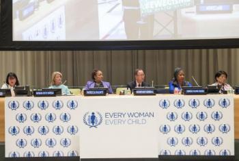 """Evento de alto nível durante a 60ª sessão da Comissão sobre o Estatuto da Mulher, Every Woman Every Child, ou """"Cada Mulher, Cada Criança.""""Foto: ONU/Eskinder Debebe"""