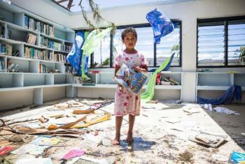 Cerca de 100 mil crianças estão sem condições de frequentar a escola nas Américas devido ao número crescente de desastres naturais na região.Foto: Unicef/UN011701/Sokhin (arquivo)