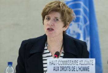 A vice-alta-comissária da ONU para os direitos humanos, Kate Gilmore.Foto: ONU/Jean-Marc Ferre