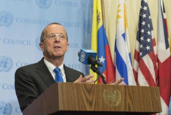 Martin Kobler em coletiva de imprensa na sede da ONU, em Nova York. Foto: ONU/Eskinder Debebe