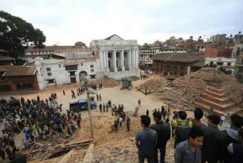 Destruição causada pelo terremoto que atingiu o Nepal em abril de 2015. Foto: Pnud Nepal/Laxmi Prasad Ngakhusi