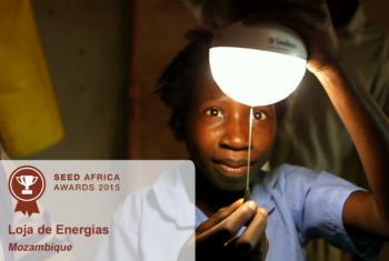 Em 2015, o Prémio SEED foi atribuído à Loja de Energias, projeto moçambicano. Imagem: SEED Africa