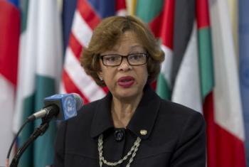 Sandra Honoré,representante especial do secretário-geral da ONU no Haiti.Foto: ONU/Loey Felipe