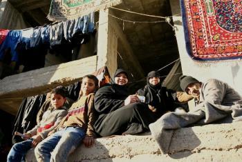Refugiados em acampamento em Alepo, Síria. Foto: Ocha/Josephine Guerrero