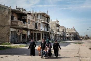 Homs é a cidade que mais sofreu bombardeios aéreos desde o início do conflito sírio. Foto: Acnur/Andrew McConnell