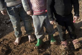 Crianças sírias em acampamento para deslocados internos. Foto: Unicef/Diffidenti