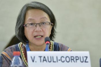 Victoria Tauli-Corpuz. Foto: ONU/Jean-Marc Ferré