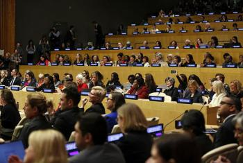 60ª sessão da Comissão sobre o Estatuto da Mulher na seda da ONU em Nova Iorque.Foto: ONU Mulheres/Ryan Brown