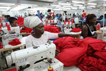 Indústria têxtil em África.Foto: Banco Mundial/Dominic Chavez