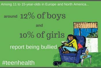 12% dos garotos e de 10% das garotas sofreram bullying. Imagem: OMS Europa