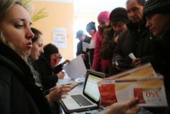 PMA presta assistência alimentar mensal a vulneráveis na Ucrânia. Foto: PMA/Abeer Etefa
