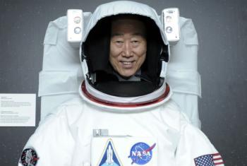 Dia Internacional do Voo Espacial Humano.Foto: ONU/Evan Schneider
