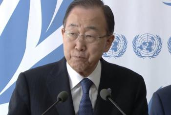 Ban Ki-moon falou com jornalistas em Genebra. Foto: Reprodução Vídeo ONU Web TV