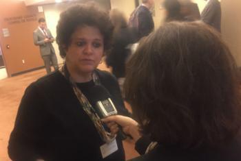 Ministra do Meio Ambiente do Brasil, Izabella Teixeira, em entrevista à Rádio ONU. Foto: Rádio ONU.