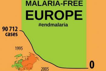A Europa é a primeira região do mundo a conseguir zerar os casos de malária.Imagem: OMS