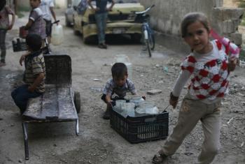 Existem 6 milhões de crianças dentro da Síria que dependem da assistência humanitária.Foto: Unicef/Bassam Khabieh
