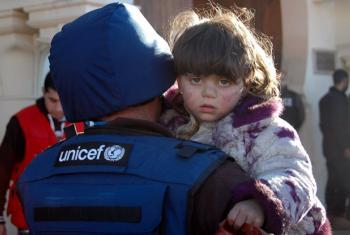 Criança síria. Foto: EPA-STR/Unicef.